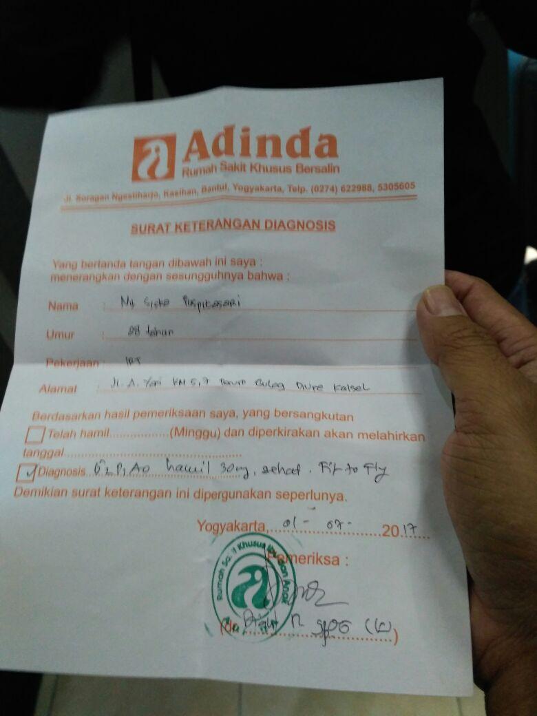 Surat Keterangan dokter di Jogja sebelum Balik Merantau :D