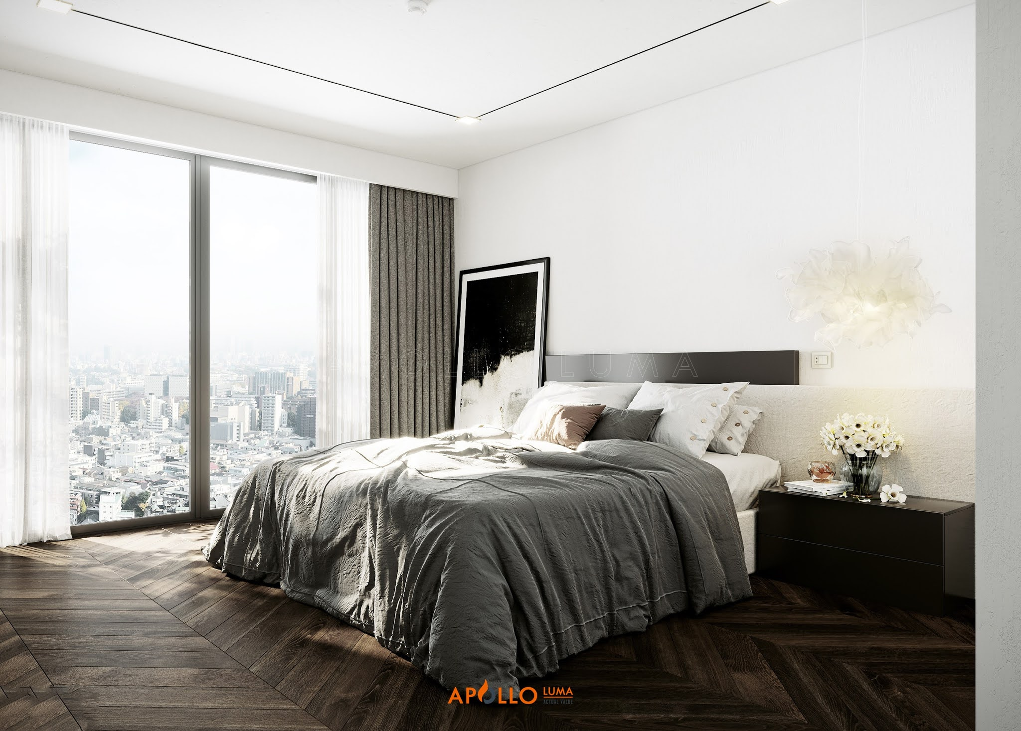 Thiết kế nội thất căn hộ 4 phòng ngủ Vinhomes SkyLake Phạm Hùng