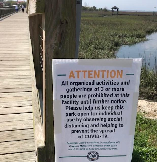 pandemic; posted sign; Mt. Pleasant; South Carolina