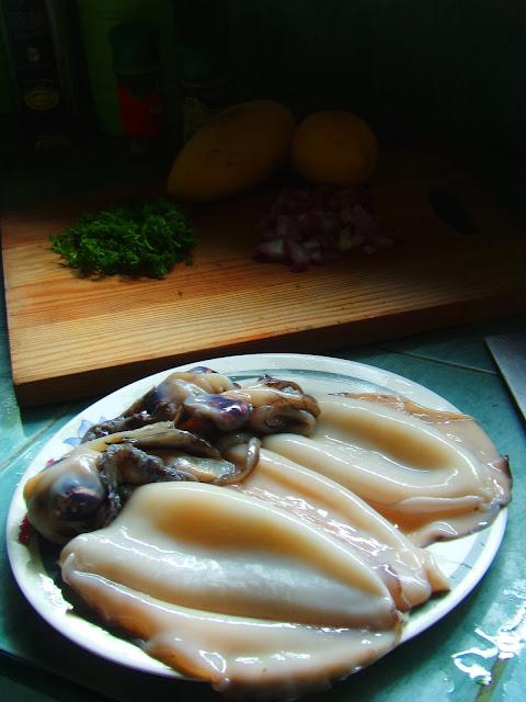 stuffed squid recipe, cooking stuffed squid