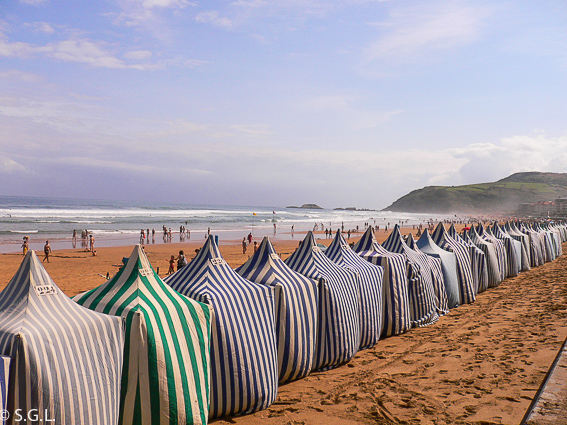Playa de Zarautz en verano. Proyecto de la A a la Z