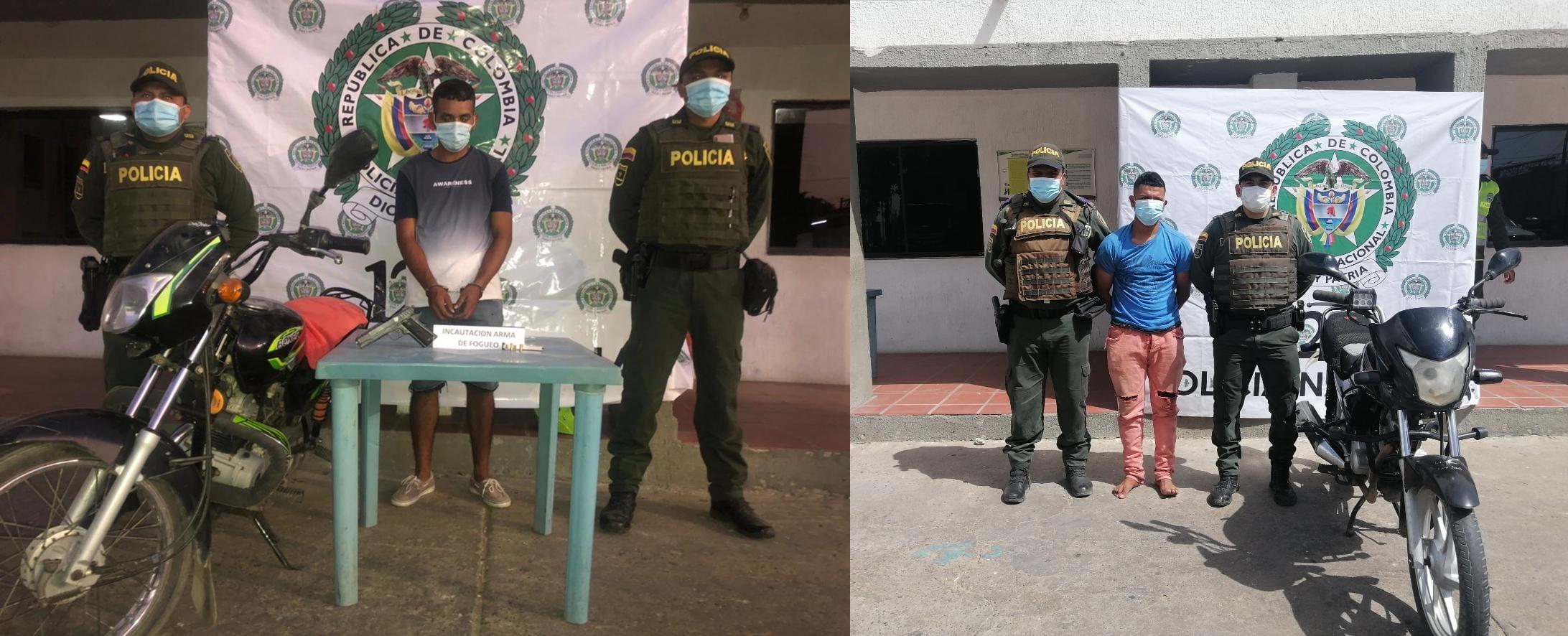 hoyennoticia.com, Policía recuperó dos motos robadas y capturó a los ladrones