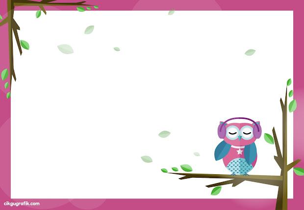 Gambar Kartun Burung Hantu Comel