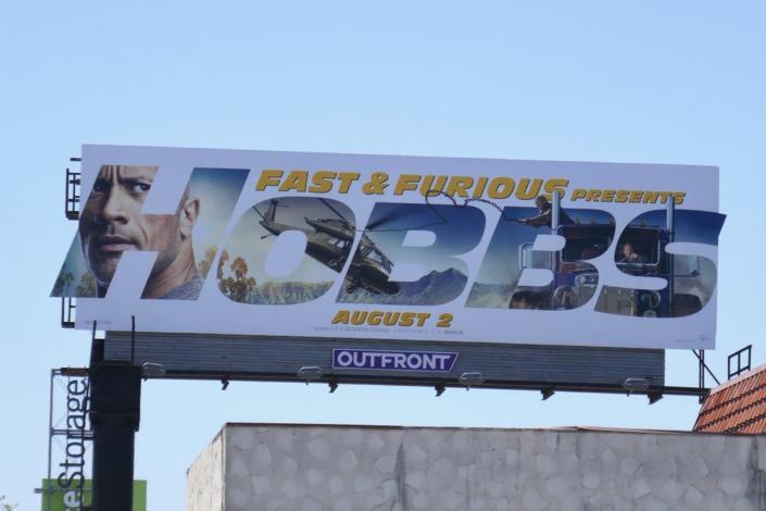 Hobbs & Shaw film billboard