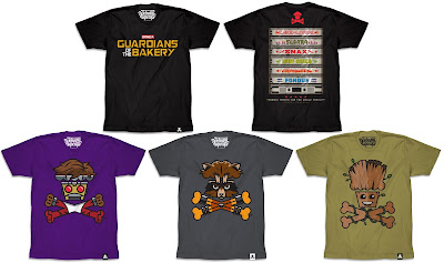Guardians of the Galaxy Vol. 2 T-Shirt Collection by Johnny Cupcakes