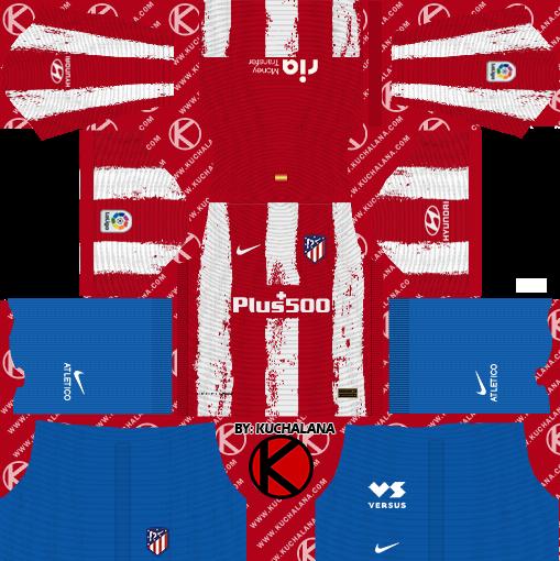 Atletico Madrid 2021 22 Nike Kit Dls2019 Kuchalana