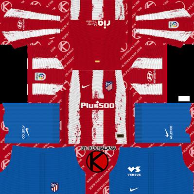 Bộ quần áo bóng đá của Atletico Madrid 2021/22 - DLS2019