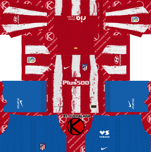 Atletico Madrid 2021/22 Nike Kit - DLS2019