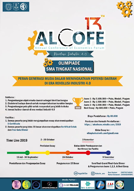 Olimpiade Ekonomi Nasional ALCOFE 2019 Untuk SMA Sederajat