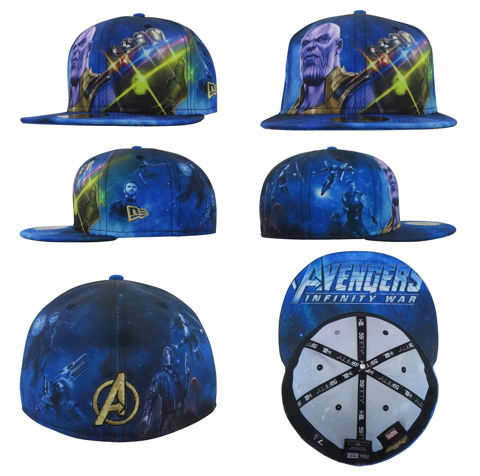 sale retailer f6687 4be6e Avengers  Infinity War 59Fifty Fitted Hat Collection by New Era Cap x Marvel