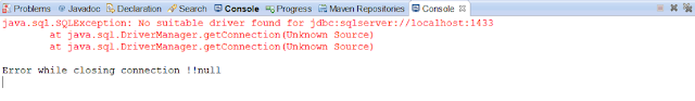 java.sql.SQLException: No suitable driver found for jdbc:jtds