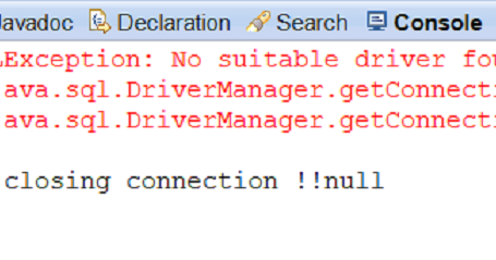 no suitable driver found for jdbc