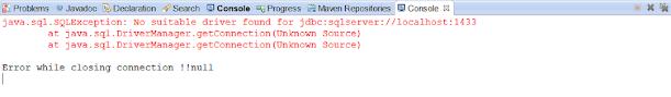 java.sql.SQLException: No suitable driver found for jdbc:jtds
