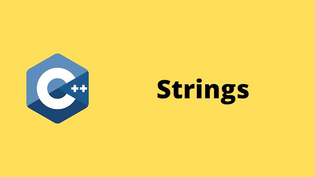 HackerRank Strings solution in c++ programming