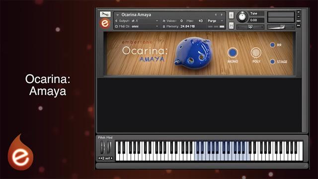 Interface da Library Embertone - Ocarina: Amaya (KONTAKT)