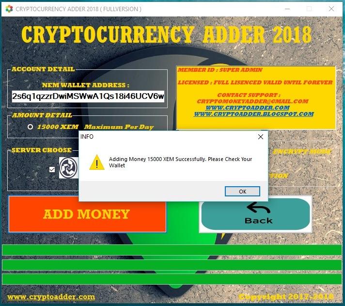 Free Bitcoin Adder Software 2018 Litecoin Transaction Mining