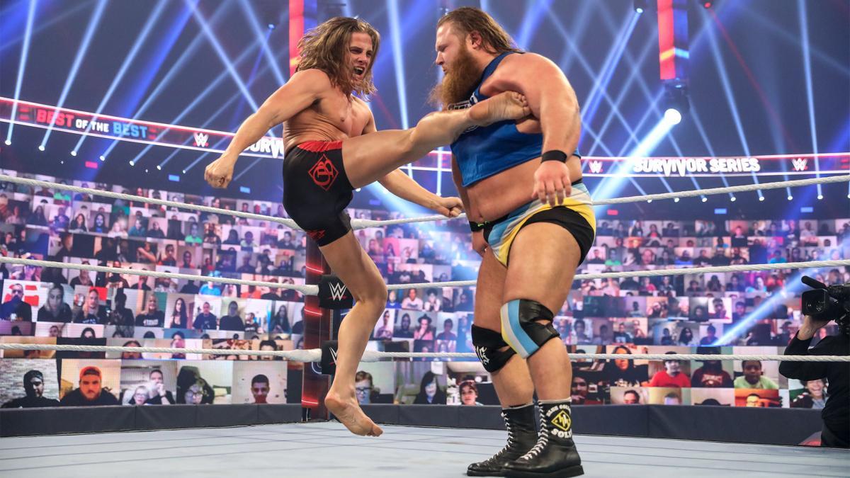 Matt Riddle and Otis in WWE Survivor Series 2020