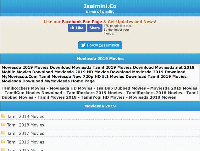 Isaimini Tamilyogi Pro 2020 – Download Malayalam, Telugu & Tamil Movies online