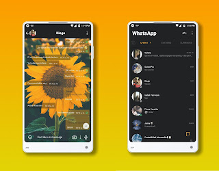 SunFlower Theme For YOWhatsApp & Fouad WhatsApp