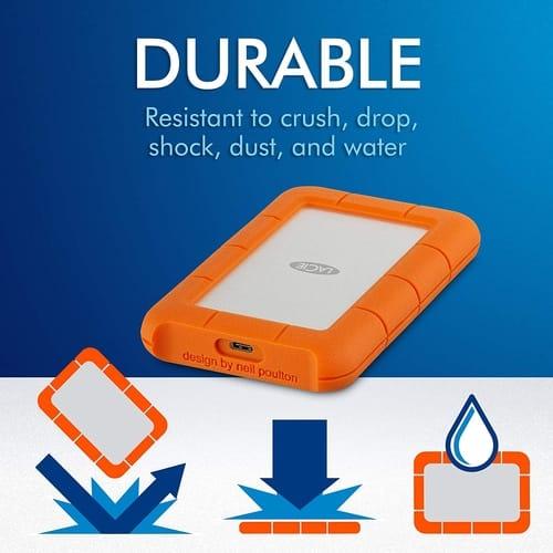 Review LaCie Portable USB-C 5TB External Hard Drive