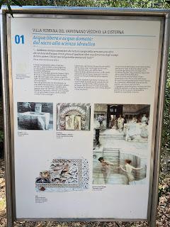 Varignano Roman Villa - Informational sign - cistern