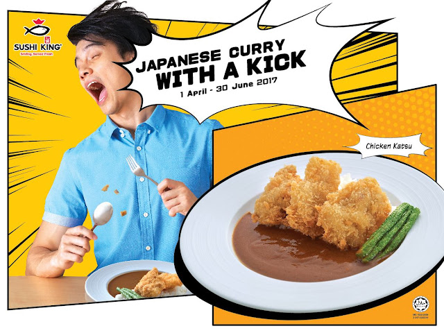 Sushi King's limited time menu with Japanese curry with a kick.
