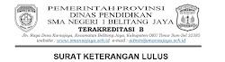 Formulir SKL SMAN 1 Belitang Jaya 2021