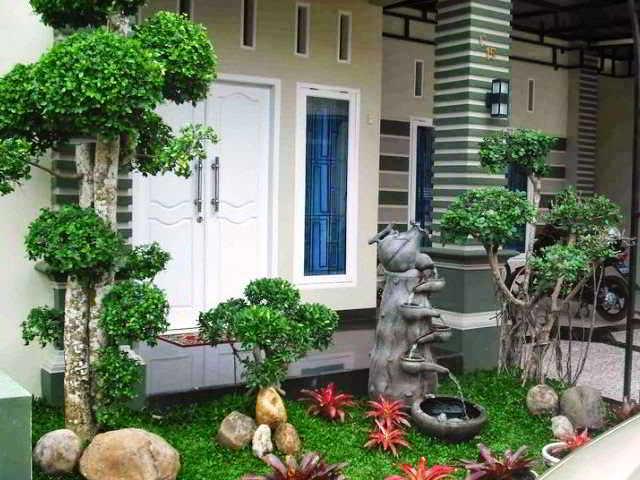 Foto Desain Taman Minimalis Depan Rumah Type 36