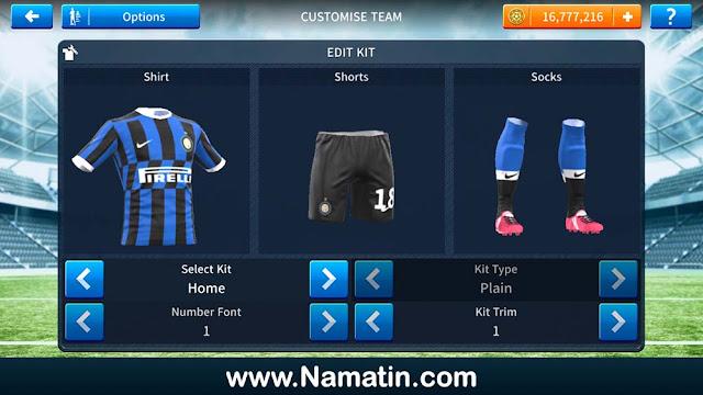 Kit Dream League Soccer Inter Milan 2020