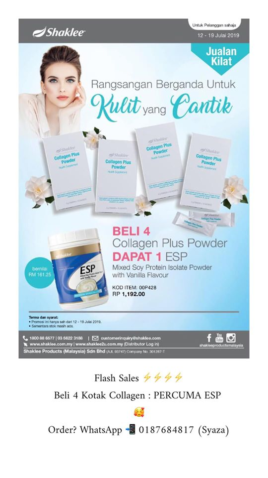 Promosi Shaklee Collagen Powder