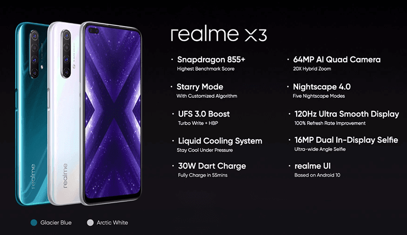 realme X3 specs