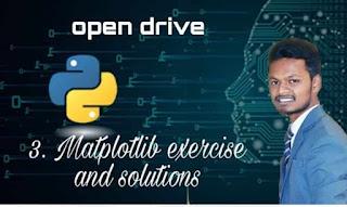 Matplotlib exercise and solution Tutorial