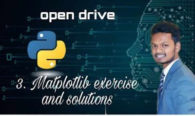 Matplotlib exercise and solution