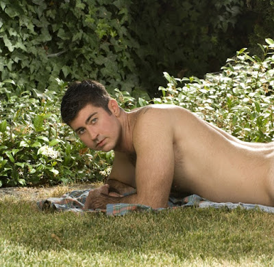 Hot Hunk Berke Banks Posing Outdoors