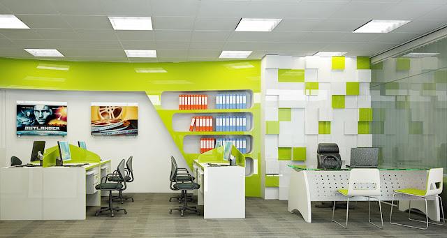 Thiết kế nội thất văn phòng theo màu sắc LOGO