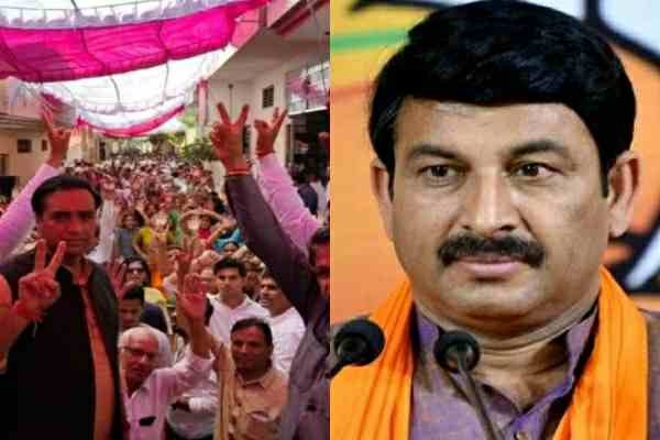 ballabhgarh-manoj-tiwari-rally-against-deepak-chaudhary-news