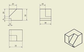 Bildresultat för ritning i tre vyer