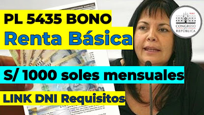 BONO Renta Básica S/1000 REQUISITOS DNI y LINK