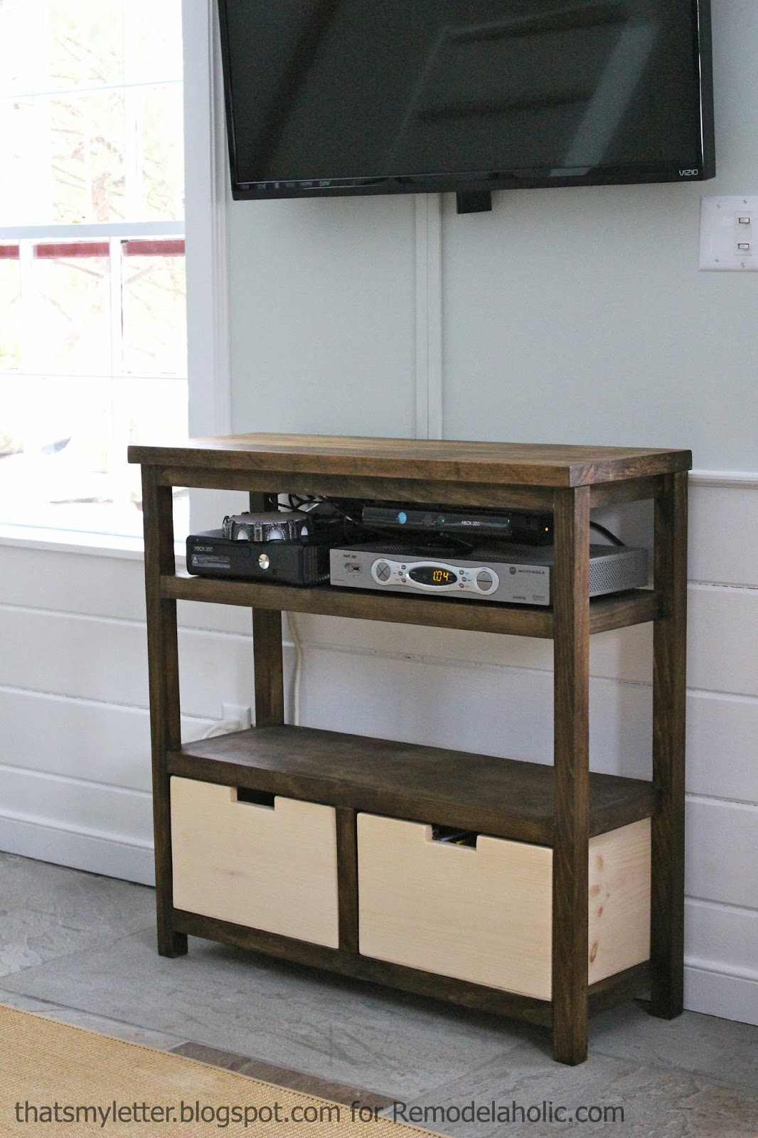 doy open media shelf tv component storage