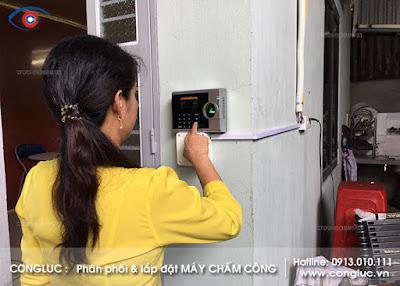 lắp máy chấm công tại công ty sơn hòa kiến an hải phòng