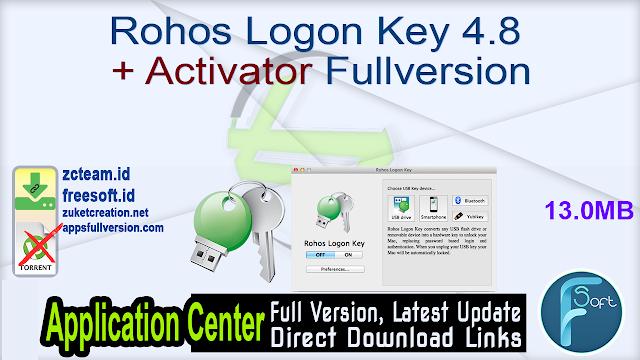Rohos Logon Key 4.8 + Activator Fullversion