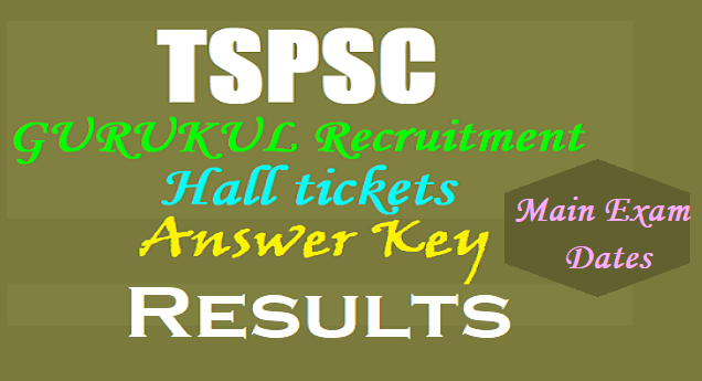 TSPSC PGTs, TGTs, PDs Recruitment Preliminary key, Results, Main Exam dates 2017