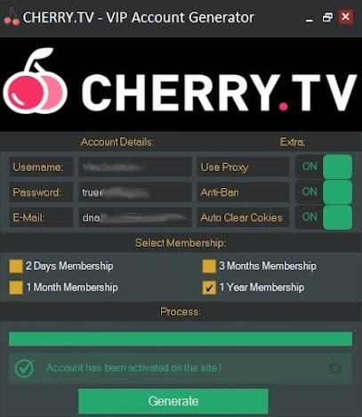 CHERRY.TV  VIP Account Generator