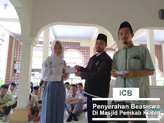 ICB Bmt Ahmad Dahlan penyerahan beasiswa
