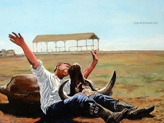 Bucky Gets The Bull by Boulder artist Tom Roderick