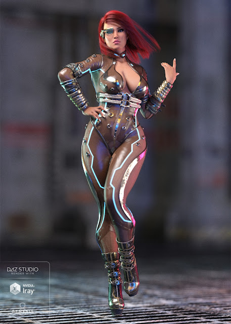 Night Spy Outfit for Genesis 8 Female