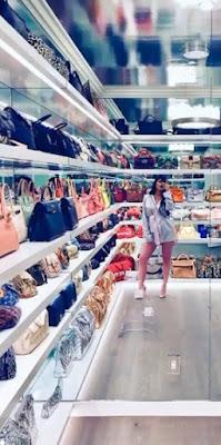 Kylie Jenner previous closet in Hidden Hills estate