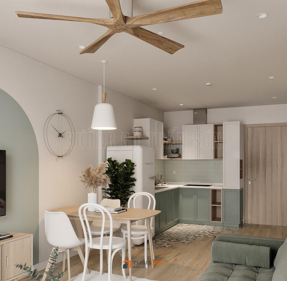 Thiết kế nội thất căn hộ 1 PN + 1 (43m2) S2.08 Vinhomes Ocean Park
