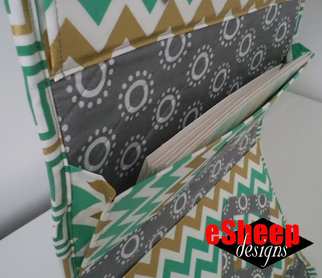 Quilted Hanging File Organizer by eSheep Designs