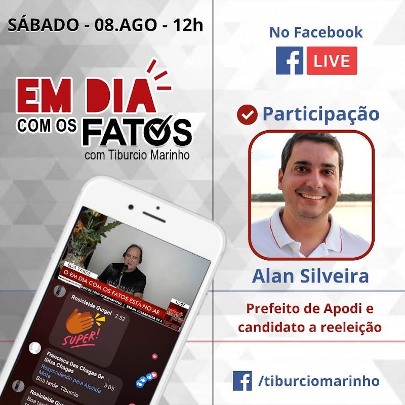Neste Sábado(8) o Prefeito de Apodi, Alan Silveira, estará no Programa Em Dia com os Fatos, de Tibúrcio Marinho.